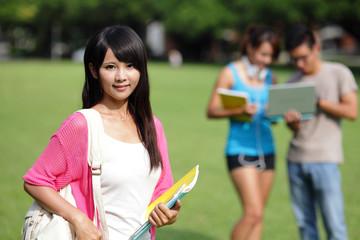 Happy girl College student