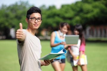 Happy College students
