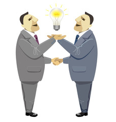 Businessmen handshake in Business deal