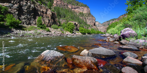 Spoed canvasdoek 2cm dik Rivier Colorado River Glenwood Canyon