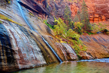 Mystery Falls Zion National Park Utah