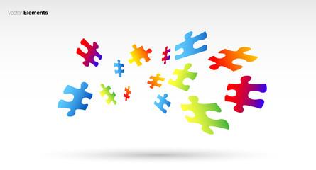 puzzle, colori, fantasia