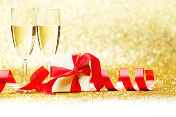Champagne and present