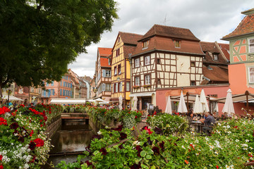 "Area ""Little Venice"" in Colmar. France. Europe"