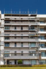 Modern residential building under refurbishment