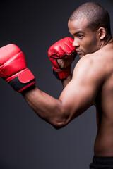 Confident boxer.