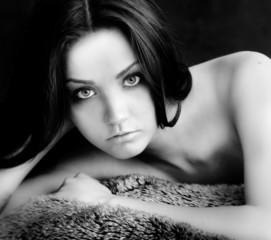 Beautiful young fashion modeling lingerie