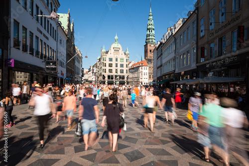 Staande foto Scandinavië Pedestrians in Copenhagen