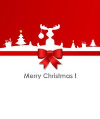 Christmas Card moose