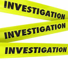Investigation Word Yellow Crime Scene Police Tape