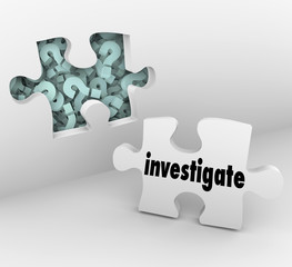 Investigate Word Puzzle Piece Find Answers Questions