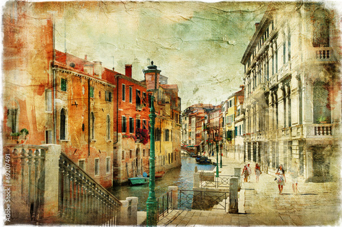 Obraz na Szkle pictorial streets of Venice. artistic picture