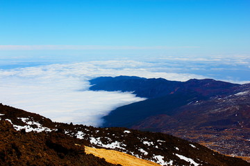Above the heavens (volcano Teide, Tenerife, Canary Islands)