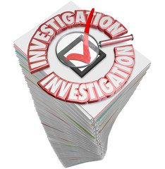 Investigation Paperwork Stack Pile Papers Forms Documents