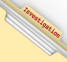 Investigation Manila Folder Research Findings Paper File Documen