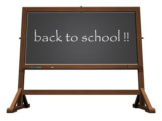 School blackboard back to school - 3D render