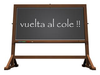 School blackboard spanish back to school - 3D render