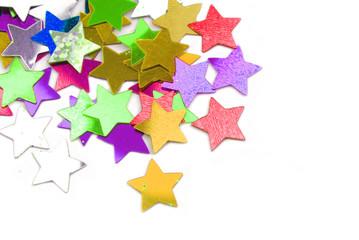 confetti stars border background