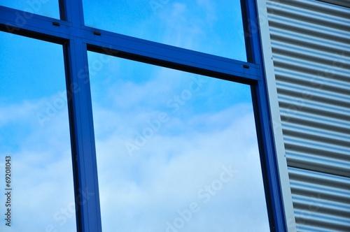 canvas print picture Fassade und Fenster