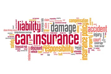 Car insurance industry - word cloud concept