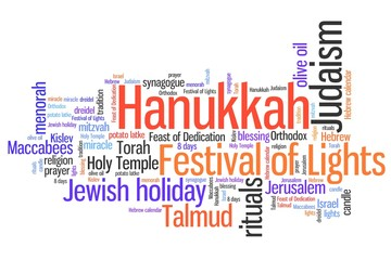 Jewish holiday - word cloud concept