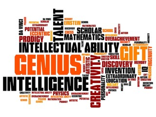 Genius - word cloud concept
