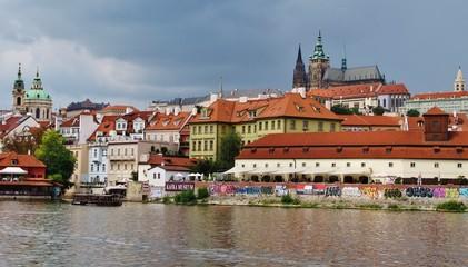 Prag, Moldau mit Kleinseite und Hradschin