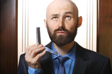 bald beard comb