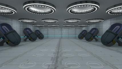 SCIFI futuristic corridor
