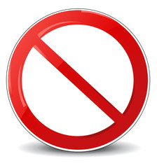 illustration of prohibited sign