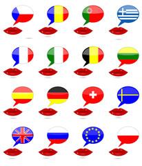 Choix de la langue : Pays Européens