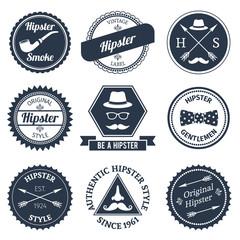 Hipster labels set
