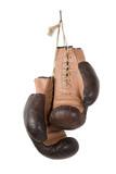 Vintage old boxing gloves - 69211034
