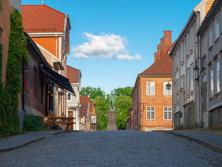 Street in the Old Town of Fredrikstad, Norway