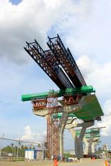 Launching system for segmental bridge , Bangkok ,Thailand