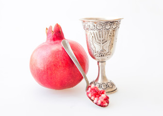 Kiddush cup and Pomegranate