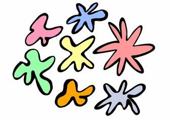 doodle ,color ,splash,