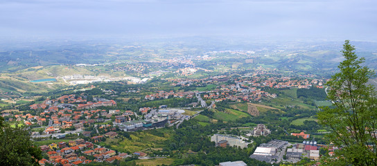 The view from the mountain Titanium, San Marino.