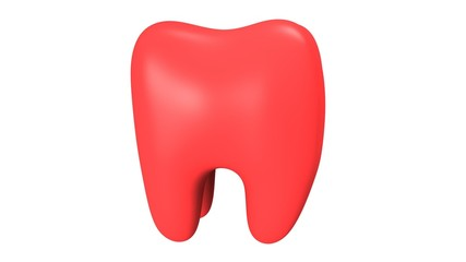 Animation of Tooth Rotation. Seamless Looping HD Video Clip