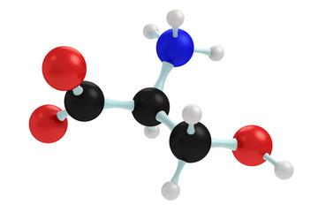 model of serine