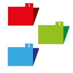 three color folders vector