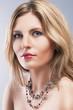 Beauty Concept: Close-up Studio Portrait of BeautifulBlond Woman