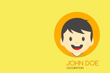 man cartoon theme business card