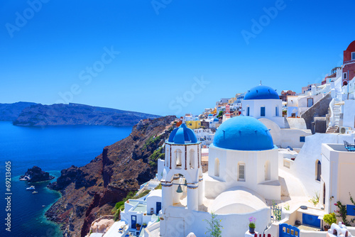 Tuinposter Europa Village of Oia in Santorini