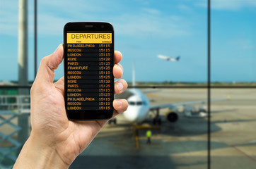 departure board on the phone