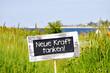 canvas print picture - neue Kraft tanken