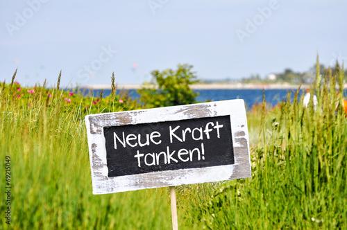 canvas print picture neue Kraft tanken