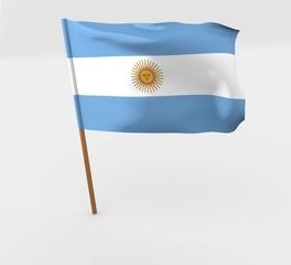 waving argentina flag on the flag pole