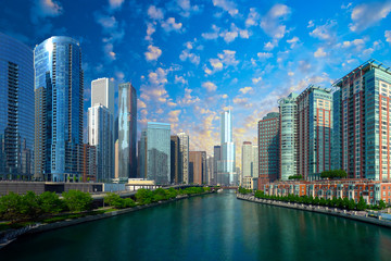 Chicago skyline, USA