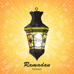 Beauty Background for Muslim Community Festival Vector Illustrat